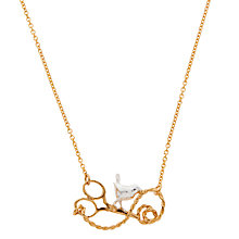 Buy Alex Monroe 22ct Gold Plated Sterling Silver Bird and Scissor Necklace, Gold Online at johnlewis.com