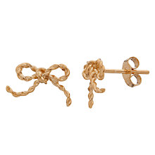 Buy Alex Monroe 22ct Gold Vermeil Bow Earrings Online at johnlewis.com