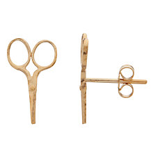 Buy Alex Monroe 22ct Gold Vermeil Stud Scissors Earrings Online at johnlewis.com