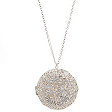 Buy Alex Monroe Sterling Silver Big Lace Effect Locket Necklace, Silver Online at johnlewis.com