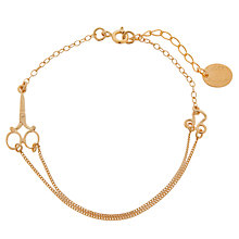 Buy Alex Monroe The Haberdashery 22ct Gold Vermeil Scissor Bracelet Online at johnlewis.com