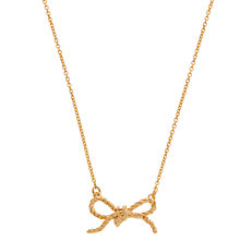 Buy Alex Monroe 22ct Gold Vermeil Knotted Bow Necklace, Gold Online at johnlewis.com