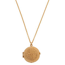Buy Alex Monroe 22ct Gold Vermeil Circle Pendant, Gold Online at johnlewis.com