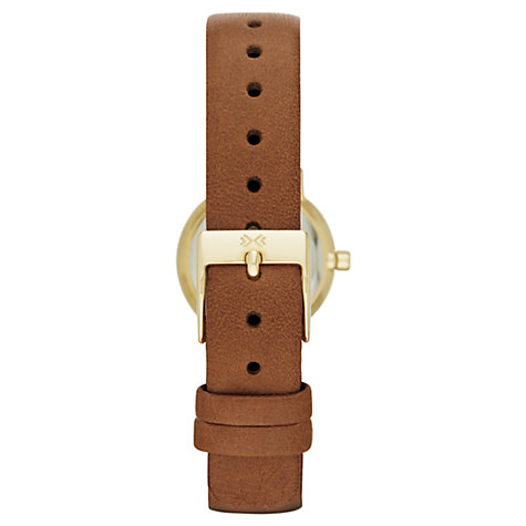 Buy Skagen SKW2175 Women's Klassik Crystal Dial Leather Strap Watch, Brown/Gold Online at johnlewis.com