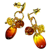 Buy Goldmajor Gold Plated Triple Amber Drop Earrings Online at johnlewis.com