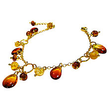 Buy Goldmajor Gold Plated Amber Drop Bracelet Online at johnlewis.com