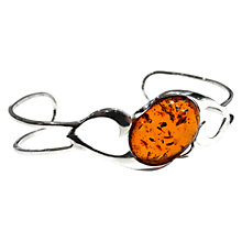 Buy Goldmajor Sterling Silver and Amber Twisted Bangle, Orange Online at johnlewis.com
