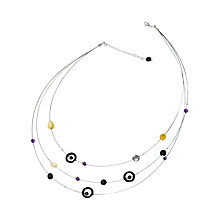 Buy Goldmajor Sterling Silver Amber, Amethyst and Haematite Multi-Strand Collar Online at johnlewis.com