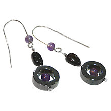 Buy Goldmajor Sterling Silver Amethyst, Amber and Haematite Drop Earrings Online at johnlewis.com