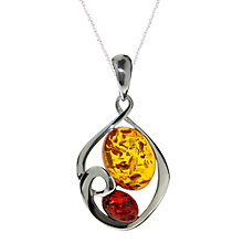 Buy Goldmajor Amber Sterling Silver Pendant, Silver/Orange Online at johnlewis.com