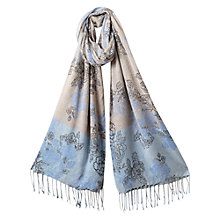 Buy East Agnes Print Scarf, Sky Online at johnlewis.com