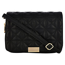 Buy Oasis Carmen Quilted Satchel Bag, Black Online at johnlewis.com