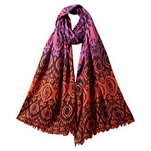 Buy East Smudge Ikat Scarf, Orchid Online at johnlewis.com
