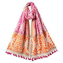 Buy East Sheba Stencil Scarf, Azalea Online at johnlewis.com