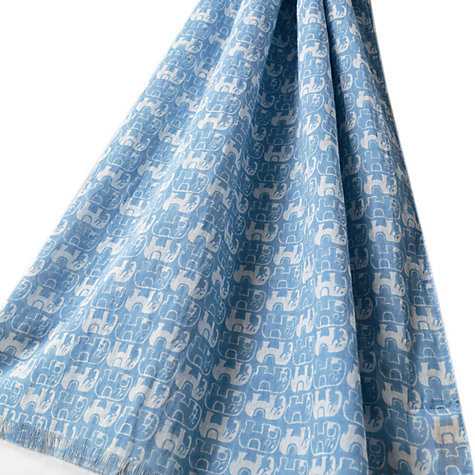 Buy East Nelly Print Scarf, Sky Online at johnlewis.com
