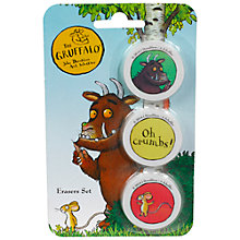 Buy Gruffalo Erasrer Set Online at johnlewis.com