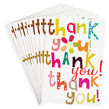 Buy Caroline Gardner Thank You Thank You Note Cards, Pack of 10 Online at johnlewis.com