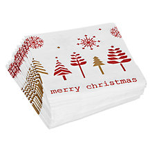 Buy John Lewis Snowflake Napkin, Red, Pack of 20 Online at johnlewis.com