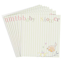 Buy Caroline Gardner Baby Shower Invite, Pack of 8 Online at johnlewis.com