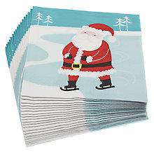 Buy John Lewis Santa Napkin, Multi, Set of 20 Online at johnlewis.com