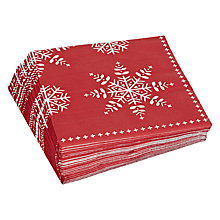 Buy John Lewis Snowflake Christmas Napkin, Pack of 20 Online at johnlewis.com