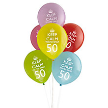 Buy Neviti Keep Calm You're Only 50 Party Balloons, Set of 8 Online at johnlewis.com