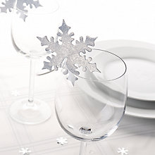 Buy Neviti Silver Snowflake Placecards, Pack of 10 Online at johnlewis.com