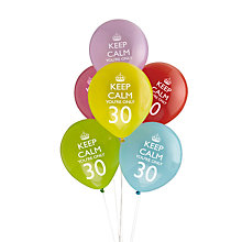 Buy Neviti Keep Calm You're Only 30 Party Balloons, Set of 8 Online at johnlewis.com