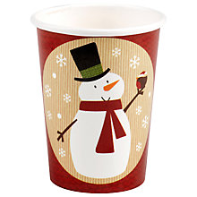 Buy Neviti Snowman Disposable Cups, Set of 8 Online at johnlewis.com
