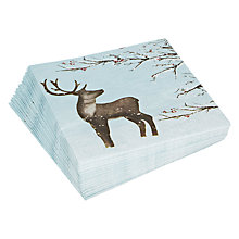 Buy John Lewis Reindeer Napkin, Multi, Pack of 20 Online at johnlewis.com