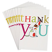 Buy Caroline Gardner Thank You Dog Note Cards, Pack of 10 Online at johnlewis.com