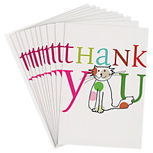 Buy Caroline Gardner Thank You Cat Note Cards, Pack of 10 Online at johnlewis.com