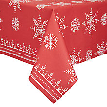 Buy John Lewis Snowflake Christmas Table Cover Online at johnlewis.com