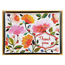 Buy Galison Floral Thank You Note Cards, Set of 10 Online at johnlewis.com