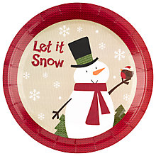 Buy Neviti Snowman Disposable Plates, Set of 8 Online at johnlewis.com