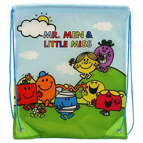 Buy Mr Men Drawstring Bag, Multi Online at johnlewis.com
