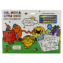 Buy Mr Men Giant Colouring Set Online at johnlewis.com