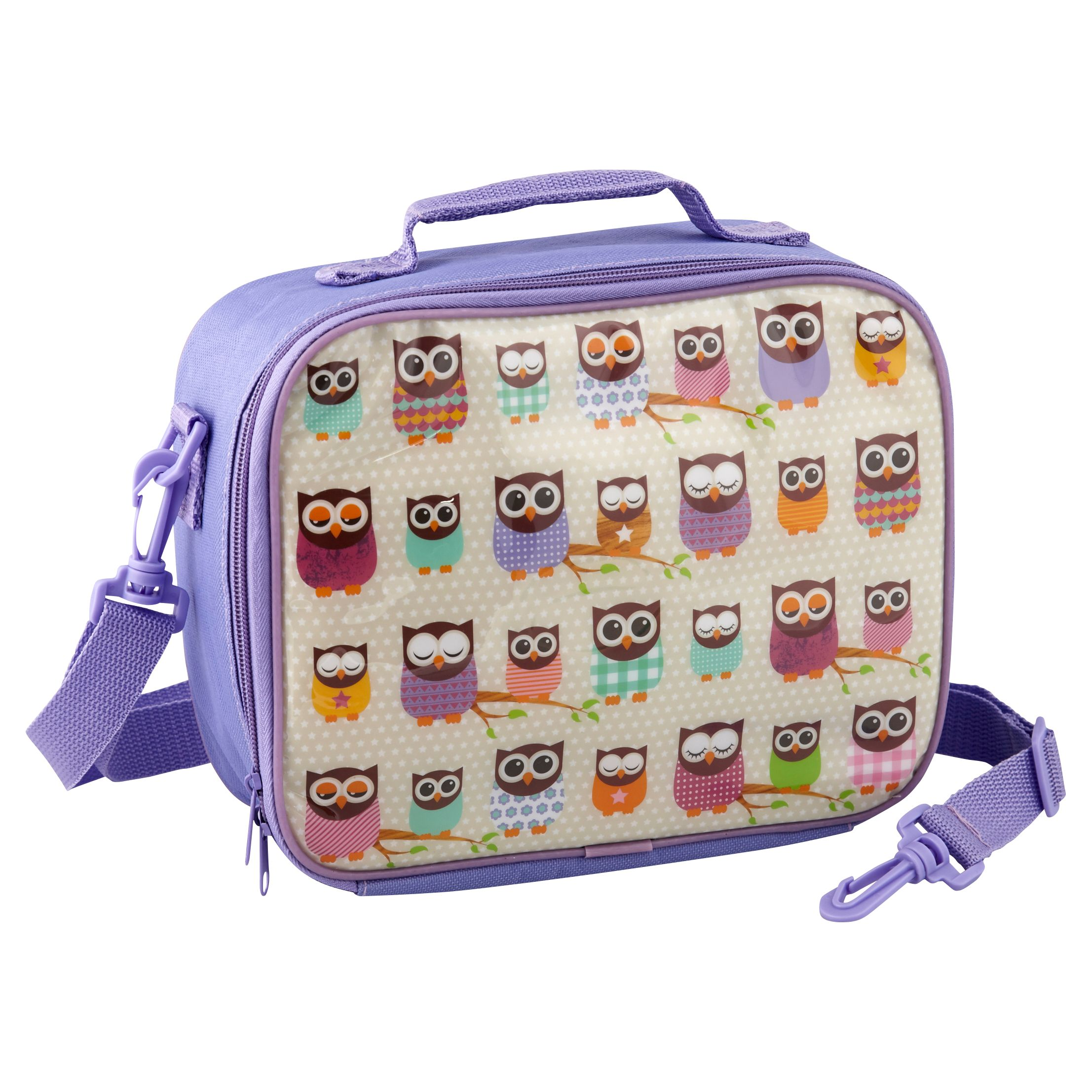 Give A Hoot Lunch Bag, Purple
