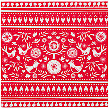 Buy Talking Tables Russian Christmas Napkins, Red/White, Pack of 20 Online at johnlewis.com