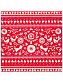 Talking Tables Russian Christmas Napkins, Red/White, Pack of 20
