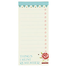 Buy Emma Bridgewater Rose & Bee To Do List, Multi Online at johnlewis.com