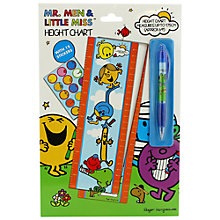 Buy Mr Men Height Chart, Multi Online at johnlewis.com