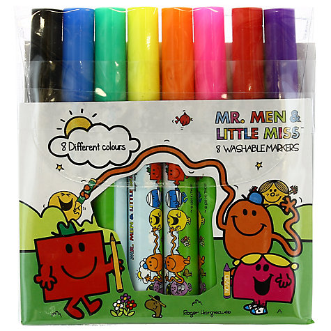 Buy Mr Men Washable Markers, Pack of 8 Online at johnlewis.com