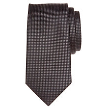 Buy BOSS Tonal Square Silk Tie, Black Online at johnlewis.com