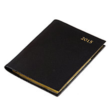 Buy Leathersmith of London Pocket Week to View 2015 Diary, Black Online at johnlewis.com