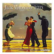 Buy Tue Neues Jack Vettriano 2015 Wall Calendar Online at johnlewis.com