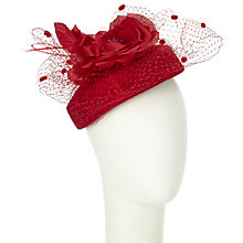 Buy Walter Wright Dita Silk Pillbox Occasion Hat, Cream Online at johnlewis.com