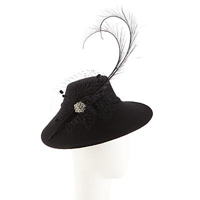 Walter Wright Felt 1940s Style Occasion Hat Black £62.50 AT vintagedancer.com