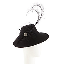 Buy Walter Wright Felt 1940s Style Occasion Hat, Black Online at johnlewis.com