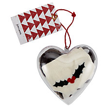Buy John Lewis Heart Pudding Bauble Ankle Socks, One Size, Brown Online at johnlewis.com